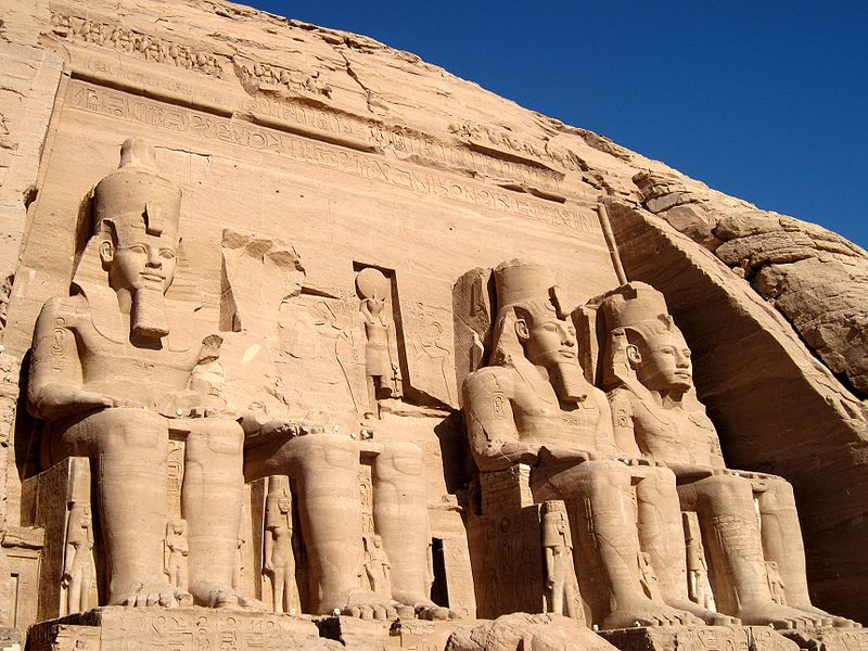 Ramses II Statues at the Entrance of Abu Simbel Temples