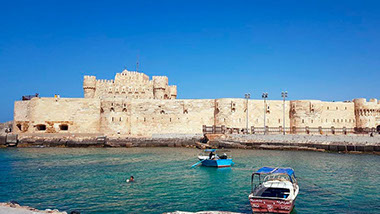 Image of the Citadel of Qaitbay fortress in Alexandria, Egypt