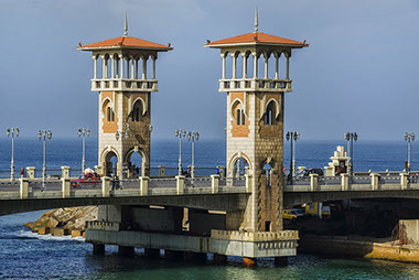 Image of the irresistable Stanly Bridge in Alexandria City of Egypt