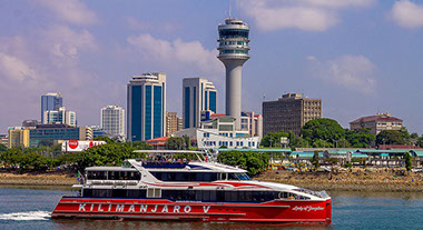 An Ocean view of Dar es Salaam City in Tanzania