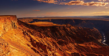 Fish River Canyon is the second most visited tourist attraction in Namibia (Africa)