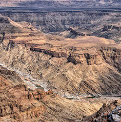 A stunning of the Fish River Canyon in Namibia