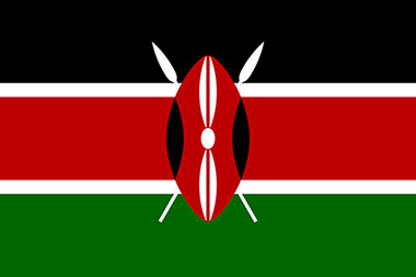 An image of the Flag of the Republic of Kenya