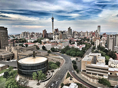 A city wide view of the spectacular Johannesburg City, South Africa