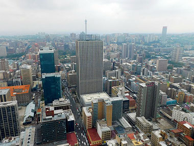 Skyline view of Johannesburg Business City, South Africa