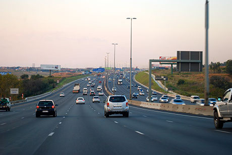 Use road to access Johannesburg through the M1 Highway from the neighbouring Cities and towns