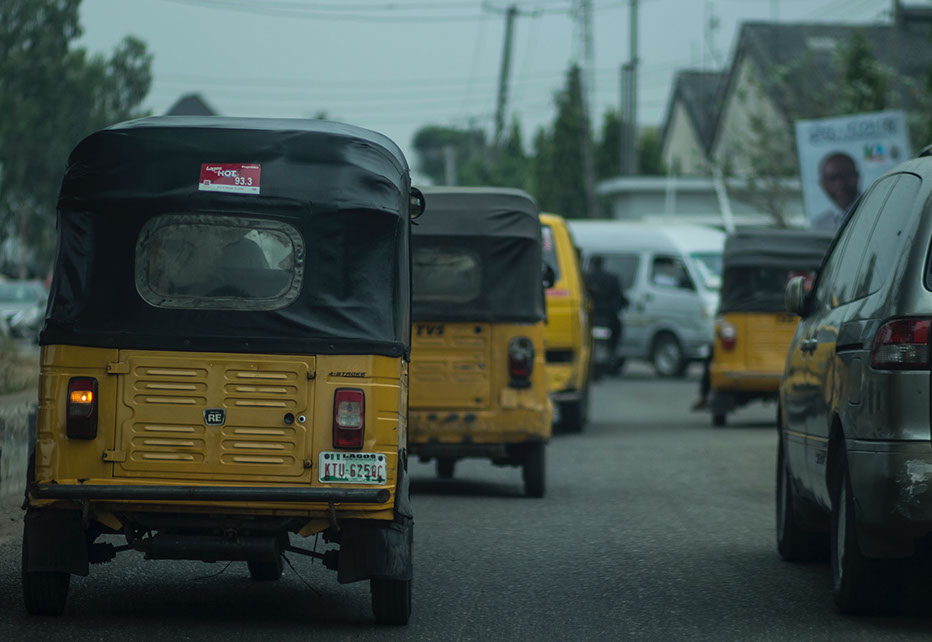 A trainsportation means image view in Lagos city, Nigeria