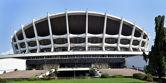 The National theatre of Nigeria in Lagos City, Nigeria
