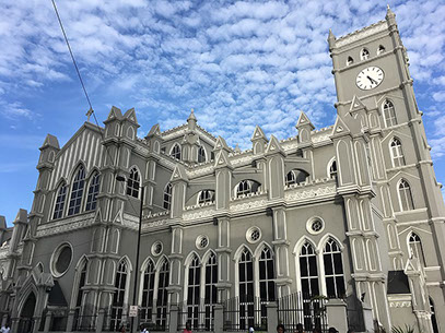 The Cathedral Church of Christ Marina Building in Lagos City, Nigeria