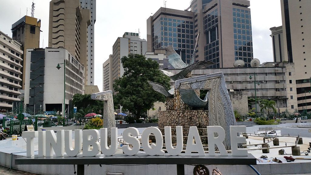 The Tinubu Square in Lagos City, Nigeria