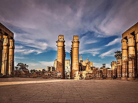 A stunning view of the city of Luxor, Egypt