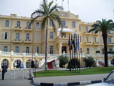 Image of the Winter Palace Hotel in Luxor, Egypt