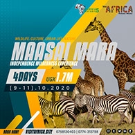 3Day Maasai Mara Wildlife, Nature and Urban-life Tour Adventure - October, 2020.