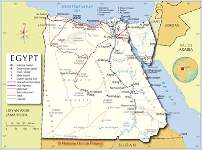 The Map of Egypt