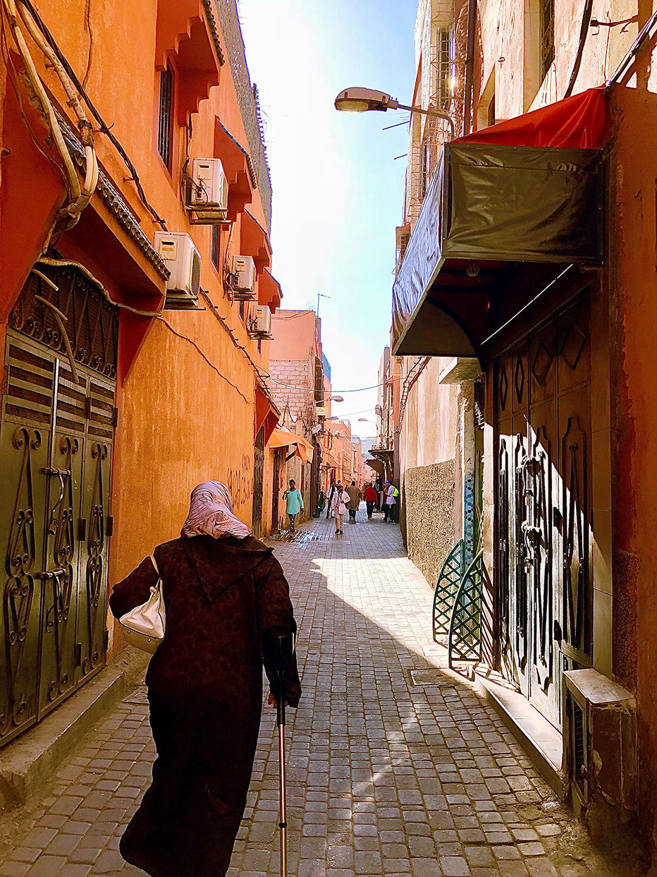 Corridor Streets of Marrakesh City, Morocco