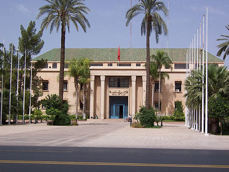 Image of the Marrakesh City Hall Building, in Marrakesh