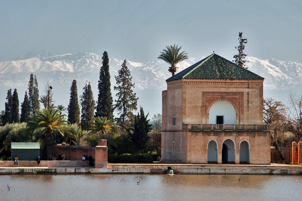 A View of the Atlas Mountains from Marrakesh City, Morocco