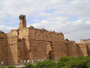 The El Badi Palace ruins in Marrakesh City, Morocco