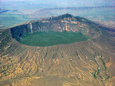 Image of Longonot stratovolcano at Mount Longonot National Park in Kenya