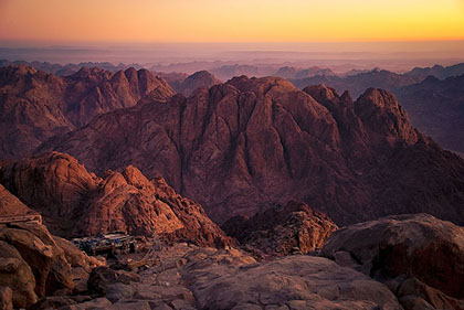 "A breathtaking image of the famour Mount Sinai ""Jabal Musa"""