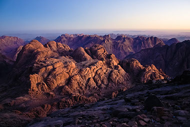 "A view of mountain Sinai ""Jabal Musa"" in Egypt, Africa"