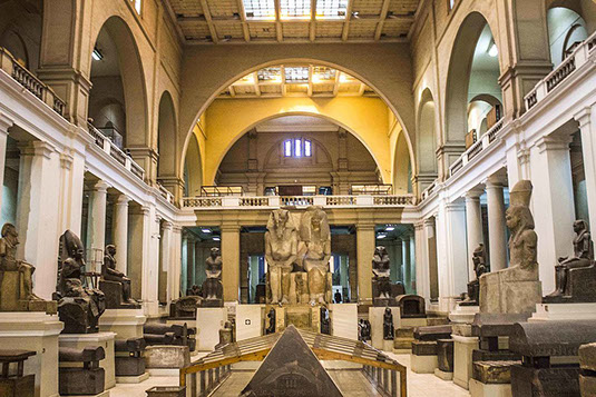 The interior of the Museum of Egypt