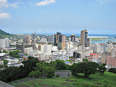Skyline View of Port Louis City, Mauritius