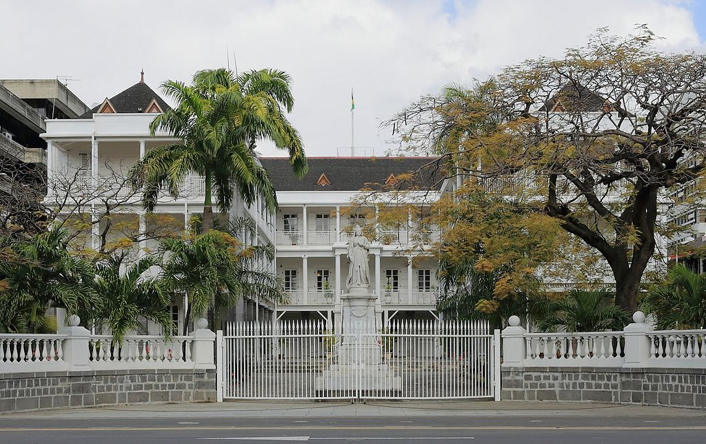 Government House in Port Louis City, Mauritius