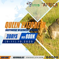 3Day Queen Elizabeth Wildlife, Nature and Cultural tour Adventure - October, 2020.