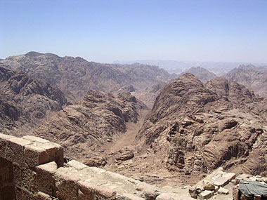 A View of Mount Sinai from St. Catherine Monastery