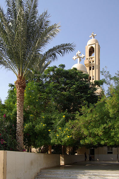 A beautiful view of St. Catherine Monastery Church, Egypt