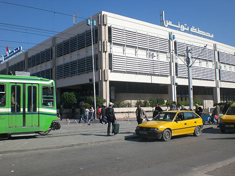 The Railway Station Building in Tunis City, Tunisia