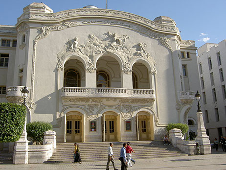 The Tunis Municipal Theatre Building in Tunis City, in Tunisia