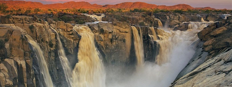 "The Khoi people named the Augrabies Falls ""place of great noise"""