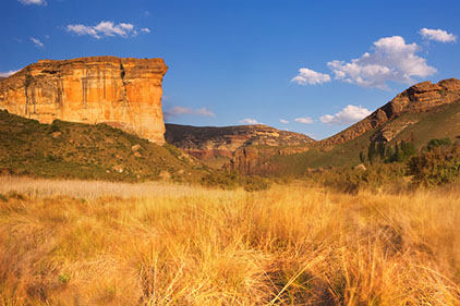 A stunning image of a Golden Cliff in Golden Gate Highlands National Park, South Africa