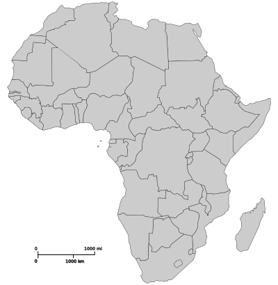 An image of the map of Africa