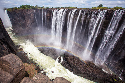 A breathtaking image of Zimbabwe's Victoria Falls