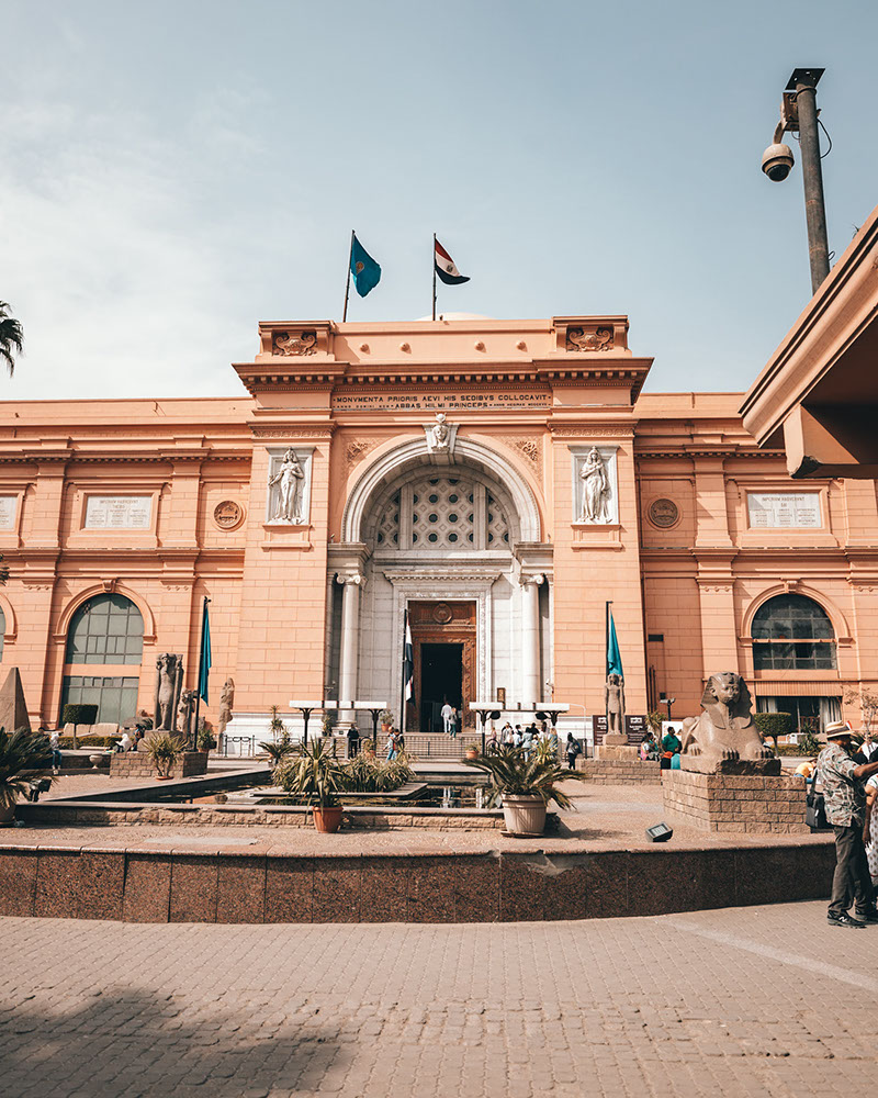 Image of the world famous Museum of Egypt found in Cairo city
