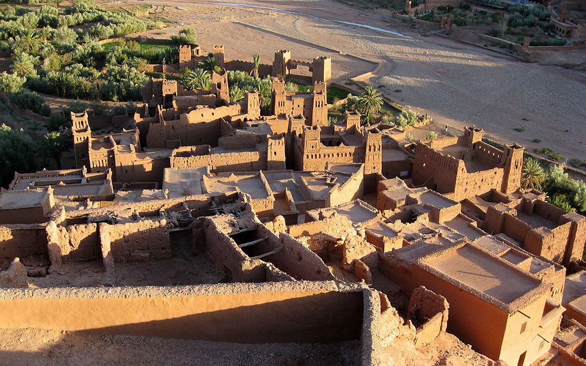 The historic fortified mud-brick city in Morocco