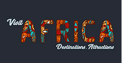 The Official logo of Visit Africa, a leading tourism brand of Architect Tourism SMC.