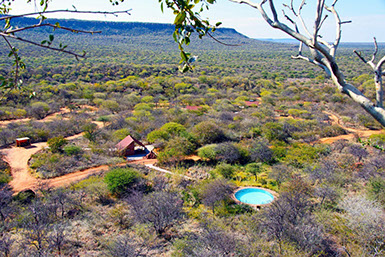 Waterberg Plateau Park is surrounded with beautiful lodges and camp-sites