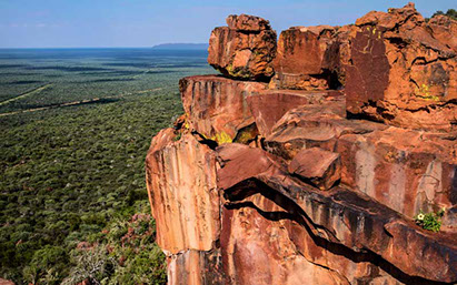 Waterberg Plateau Park, a destination kept for rare animal species and beautiful plateaus in Africa (Namibia)