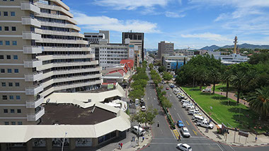 A beautiful view of Windhoek City of Namibia in Africa