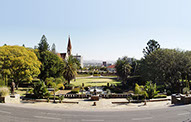 Beautiful view of the Parliament Gardens in Windhoek City, Namibia
