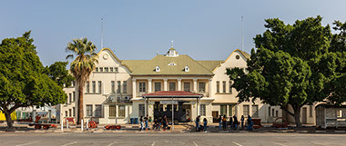 The Windhoek City Railway Station Building in Namibia, Africa
